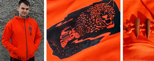яркая оранжевая толстовка